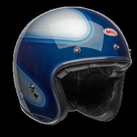 casco Bell custom 500 Gloss Candy Blue carbon jager