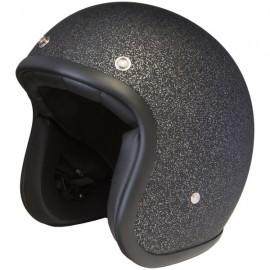 casco Stormer pearl metalflake black matt