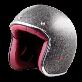 casco Stormer pearl metalflake black brillo