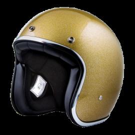 casco Stormer pearl metalflake gold brillo