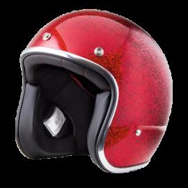 casco Stormer pearl metalflake rojo