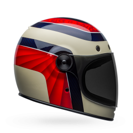CASCO Bell Bullit Dlx Helmet Carbono.Hustle Matte/Gloss Red/White/Blue