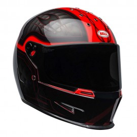 CASCO BELL ELIMINATOR HELMET - OUTLAW BLACK / RED