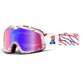 Gafas 100 % BARSTOW DEATH SPRAY CUSTOMS RACING GOGGLE W/ MIRROR RED/BLUE LENS