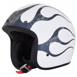 CASCO AFX 76 FLAME GLOSS WHITE GREY