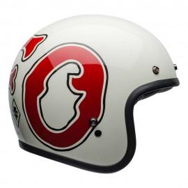 CASCO BELL CUSTOM 500 SE DELUXE HELMET - RSD WFO WHITE / RED