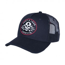 GORRA LUCKY 13 FAST & LOUD ADJ TRUCKER CAP BLACK