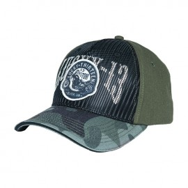 GORRA LUCKY 13 BLACK SIN ADJ. TRUCKER CAP CAMO MILITARY GREEN