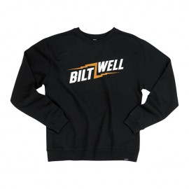 SUDADERA BILTWELL BOLTS CREW NECK SWEATSHIRT BLACK