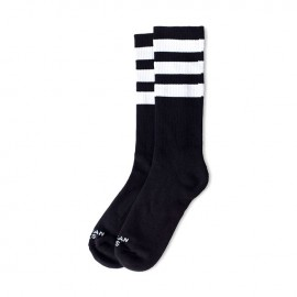 CALCETINES AMERICAN SOCKS MID HIGH BACK IN BLACK II, 8 INCH