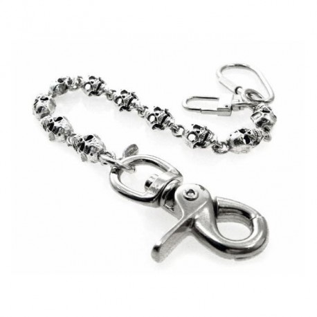 CADENA AMIGAZ FLAT SKULL KEY LEASH 8""