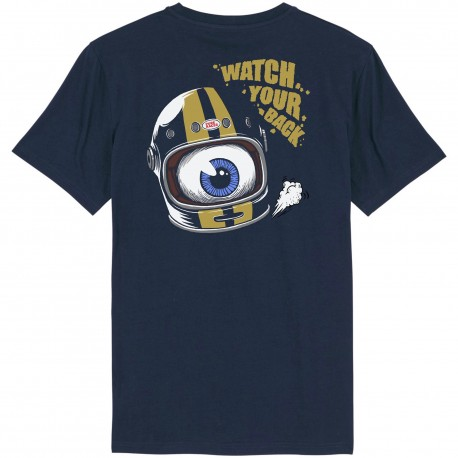 CAMISETA WATCH YOUR BACK BLUE NAVY