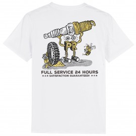 CAMISETA SPARK PLUG GARAGE WHITE