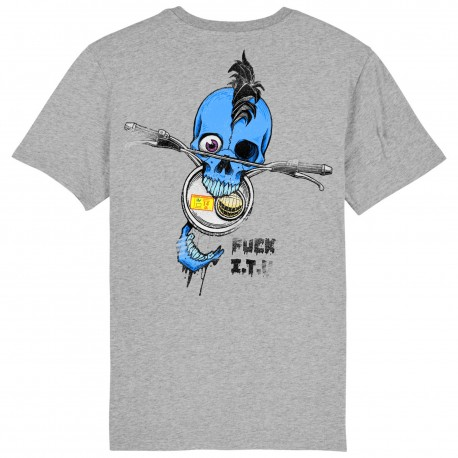 CAMISETA FUCK ITV BLUE GREY