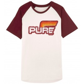 CAMISETA BASIC STRIPES WHITE OFF BURGUNDY