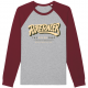 CAMISETA MANGA LARGA THE SPEED SHOP GREY/BURGUNDY