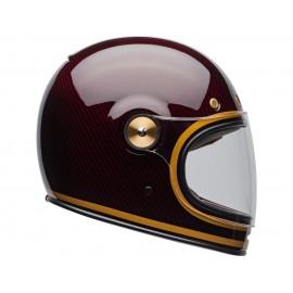 CASCO BELL BULLIT CARBON TRANSCEND GLOSS CANDY RED-GOLD