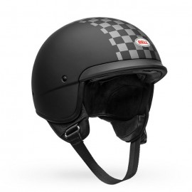 Casco Bell Scout Air CHECK Negro Mate/Blanco