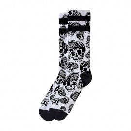 CALCETINES AMERICAN SOCKS SIGNATURE SKATER SKULL, DOUBLE BLACK STRIPED