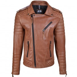 CHAQUETA ALIN VENUS BROWN LEATHER