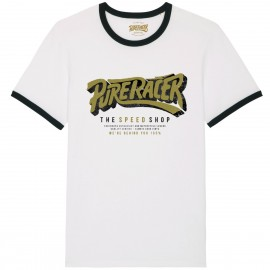 CAMISETA THE SPEED SHOP WHITE BLACK
