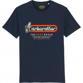 CAMISETA CARBURETTOR 2 BLUE NAVY