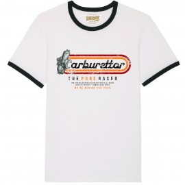 CAMISETA LOGO STRIPES 3 WHITE BLACK