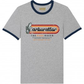 CAMISETA CARBURETTOR 2 BLUE GREY