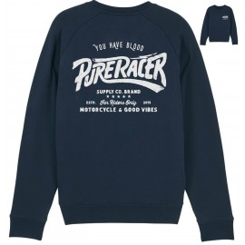 """SUDADERA """"YOU HAVE BLOOD"""" BLUE NAVY"""