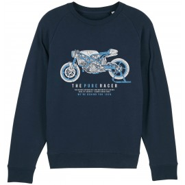 SUDADERA THE PURE RACER BLUE NAVY