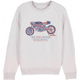SUDADERA THE PURE RACER GREY CREAM