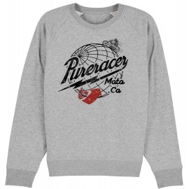 SUDADERA AROUND THE WORLD HEATHER GREY