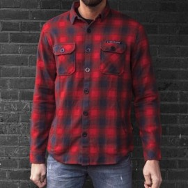 CAMISA MCS WORKER FLANEL SHIRT RED/GREY