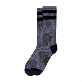 CALCETINES AMERICAN SOCKS SIGNATURE SNAKE EATER, DOUBLE BLACK STRIPED