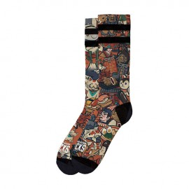 CALCETINES AMERICAN SOCKS SIGNATURE YAMATO, DOUBLE BLACK STRIPED