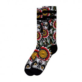 CALCETINES AMERICAN SOCKS SIGNATURE WOLF, DOUBLE BLACK STRIPED