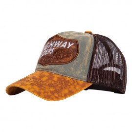 GORRA KING KEROSIN TRUCKER CAP HIGHWAY RIDERS GREEN/BROWN