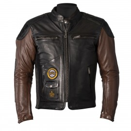 CHAQUETA HELSTONS TRACKER BROWN/BLACK