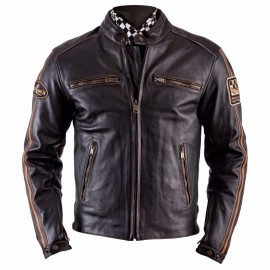 CHAQUETA HELSTONS ACE OLDIES BROWN