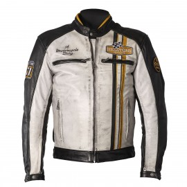 CHAQUETA HELSTONS INDY BLACK/ WHITE/YELOW