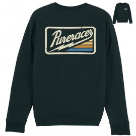 SUDADERA THUNDER STRIPES LOGO BLACK