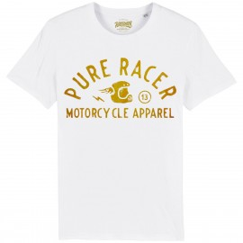 CAMISETA HELMET GOLD WHITE