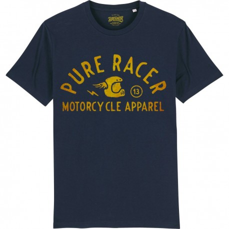 CAMISETA HELMET LOGO GOLD BLUE NAVY