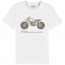 CAMISETA SCRAMBLER ENTHUSIAST WHITE