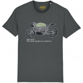 CAMISETA ITALIAN ENTHUSIAST GREY CHARCOAL