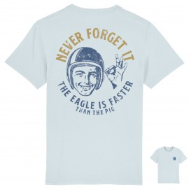 CAMISETA NEVER FORGE IT BLUE