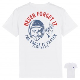 CAMISETA NEVER FORGE IT WHITE