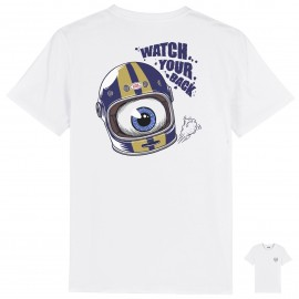CAMISETA WATCH YOUR BACK WHITE