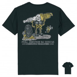 CAMISETA SPARK PLUG GARAGE BLACK