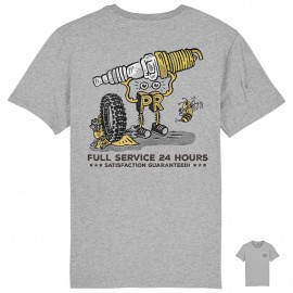 CAMISETA SPARK PLUG GARAGE GREY